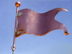 Decorative Banner #1 Weather Vane by West Coast Weather Vanes. This handcrafted Banner Weathervane can be customized with a decorative design, a corporate logo, or family coat of arms which can be done in optional gold or palladium leaf.