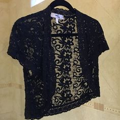 Cropped lace coverup By One 7 Six. Size M. Gently used. One 7 Six Tops Crop Tops