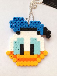 Perler Bead   Donald Necklace by CositasAM