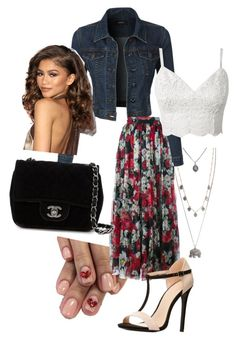 """""""This definitely isn't a Nashville party"""" by melllybear on Polyvore featuring Aéropostale, LE3NO, Dolce&Gabbana, Chanel, Charlotte Russe, women's clothing, women, female, woman and misses"""