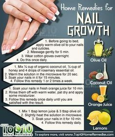 Natural Home Remedies for Nail Growth. Use these home remedies to grow your nails, fast and strong. Natural Home Remedies for Nail Growth. Use these home remedies to grow your nails, fast and strong. Nail Growth Tips, Nail Care Tips, Fast Nail Growth, Tips For Nails, Top 10 Home Remedies, Natural Home Remedies, Herbal Remedies, Health Remedies, Beauty Tips For Face