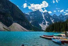 Moraine Lake near Lake Louise, AB, Canada Alberta Canada, Places Around The World, Around The Worlds, Moraine Lake, Yacht Boat, Luxury Yachts, Banff, Summer Travel, Places To See