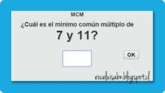 ExceLuisABN Matemática y Excel: Calcula el Mínimo Común Múltiplo, con ThatQuiz.