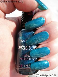 Wet 'n' Wild Fast Dry - Teal of Fortune    #wetnwild #blue #teal