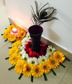 Awesome Flower decoration for Diwali The post Flower decoration for Diwali… appeared first on Feste Home Decor . Flower decoration for Diwali Rangoli Designs Flower, Colorful Rangoli Designs, Rangoli Ideas, Rangoli Designs Diwali, Diwali Rangoli, Flower Rangoli, Diwali Flowers, Rangoli With Flowers, Paper Flowers