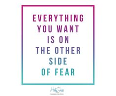 Give up your fear and go for the great | Holly Jean Biz Tip