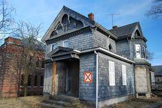 An abandoned historic home in Marlborough, Massachusetts.