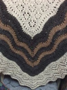My Shetland Lace half hap shawl knit from handspun yarn.....wool compliments of my Shetland sheep.