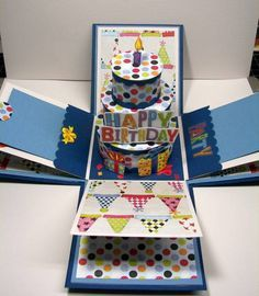 happy Birthday explosion box by anitawill1 - Cards and Paper Crafts at Splitcoaststampers