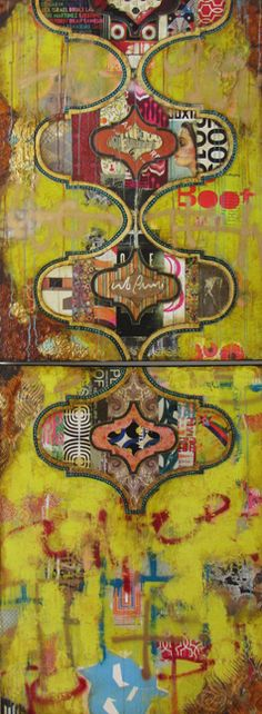 """Comfort"", Diptych 96x36"", mixed media on canvas ( 2 panels), contact gallery for pricing & availability"