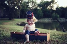 RESERVED FOR LAUREN Top Hat  Childrens Sailor Hat  by TwoBackFlats