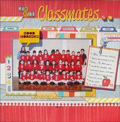Kindergarten Memories | Scraptastic Club by DT @Madeline Fox