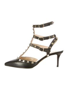 Valentino Leather Rockstud Pumps #BoudiorChic