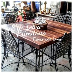Reclaimed Barn Wood - Rescued patii table SW Iowa Primitives - Emerson Iowa