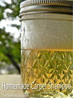 Homemade Carpet Shampoo   4 tbsp. Hydrogen Peroxide 3% solution  2 tbsp. White Vinegar  1 tbsp dish detergent  5 drops of essential oil (optional)  Directions:   1: Mix ingredients very well.  2: Blend mixture with 1.5 quarts of hot water.  3: Use in carpet cleaner  ENJOY!
