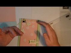 Frosted Scattered Embossing Technique - YouTube