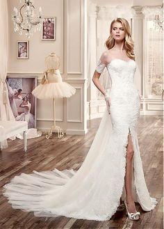 13a26f710dd2  254.99  Graceful Tulle Bateau Neckline 2 in 1 Wedding Dresses with Beaded  Lace Appliques. Svadobné ŠatySvadobná ...