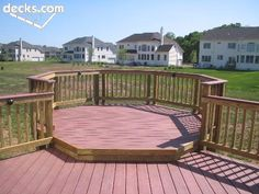 octagon deck: step up from first level deck
