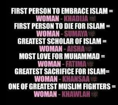 #womenempowerment #women in #islam #girlpower #khadijah #aisha #fatima # sumaya #muslims #muslimwomen #themuslimhomemaker #homemaker #inspiration #greatness  Check out the Facebook page: https://www.facebook.com/TheMuslimHomemaker