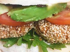 Mint Fried Kale, Steamed Broccoli, Chickpea Patties, White Almonds, Mini Burgers, Fresh Mint Leaves, Burger Buns, Cherry Tomatoes, Sweet Potato