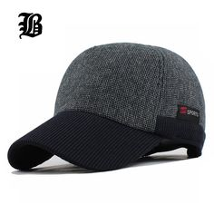[FLB] Warm Winter Thickened Baseball Cap With Ears Men'S Cotton Hat Snapback Winter Hats Ear Flaps For Men Women Hat Wholesale