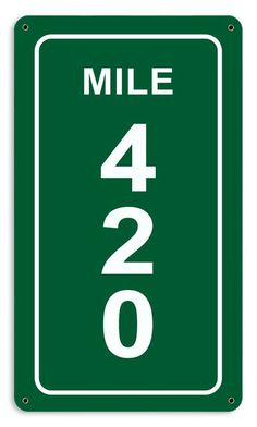 From the Altogether American licensed collection, this Mile 420 Sign measures 8 inches by 14 inches and weighs in at 1 lb(s). This custom metal shape is hand made in the USA using heavy gauge American