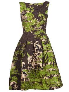 how to wear a full skirted dress | ... DE LA RENTA flared full skirt dress | What I'm wearing to BritM