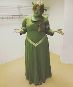 Princess Fiona from Shrek costume, Makeup, hair and dress, Cosplay