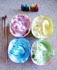 Shaving Cream Painting for the Bath - Fun for Kids!