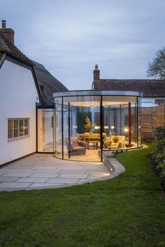 Works included the extension, remodelling and part refurbishment of this Grade II listed cottage. The cottage was extended seamlessly to the front of … – Flooring Designs Cottage Extension, House Extension Design, Glass Extension, Orangery Extension, Rear Extension, Garden Room Extensions, House Extensions, Glass Room, Dream House Exterior