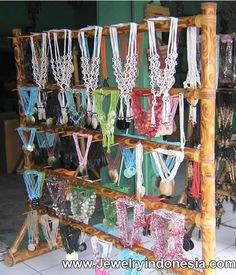 Bamboo Jewelry Displays Bali Indonesia Necklace Holders Shop Fixtures Retail