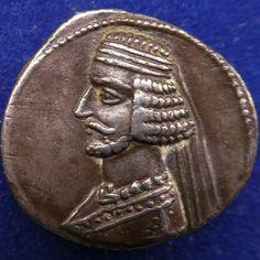 KINGS OF PARTHIA, Parthian Kingdom; Mithradates IV. 58-55 B.C. AR drachm   eBay Nanak Dev Ji, Ancient Persia, Carthage, Alexander The Great, Ancient Greece, Antique Silver, Coins, Monogram, Bronze