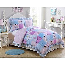 image of VCNY Tutu Cute Reversible Comforter Set in Purple
