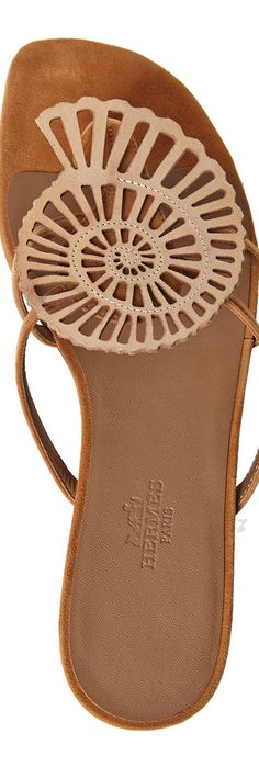 Hermes Brown Seashell Thong Sandals Cute Sandals, Flat Sandals, Shoes  Sandals, Shoe Boots a7d43af042b