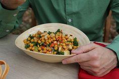 Massaged Kale Salad with Roasted Chickpeas & Baked Tofu #vegan