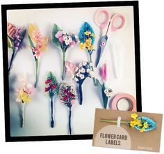 BLOG BLING: FLOWER CARD LABELS