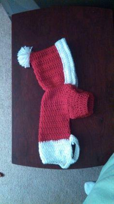 Christmas Dog Hoodie - crochet