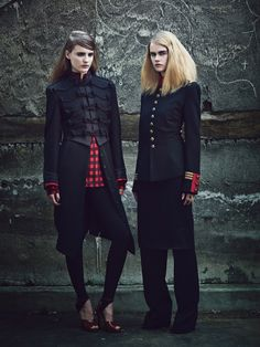 Fall Fashion: New York Designers Claim Their Turf  - From left: Ralph Lauren Collection jacket and leggings