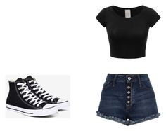 """Untitled #370"" by may5lin on Polyvore featuring Converse"