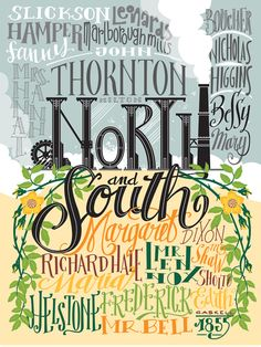 North & South - Poster by PemberleyPond - #elizabethgaskell #fanart
