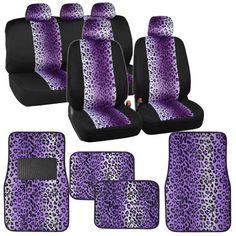 New Safari Print Zebra Tiger Purple Car Truck Front Back Carpet Floor Mats