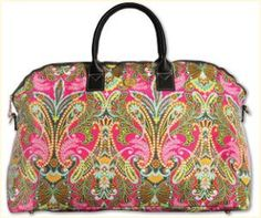 Laminated Fabric Duffle with Shoulder Strap - Clever Girl