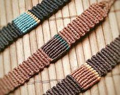 Handmade Bracelet Macrame Jewelry Wristbands , Micro macrame, discret.