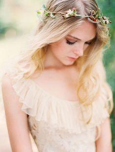 delicate floral crown