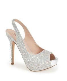 Lauren Lorraine 'Candy' Crystal Slingback Pump, 4 heel AED) ❤ liked on…
