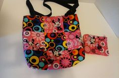 Reversable Minnie Mouse tote with coin by RebeccaEdwardsQuilts