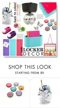 """Locker Decor"" by sarah-crotty ❤ liked on Polyvore featuring interior, interiors, interior design, home, home decor, interior decorating, Jonathan Adler, GAMA-GO and mylocker"