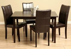 Warehouse of Tiffany - Eveleen Dining Table & Chair Set in Brown