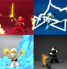 They look sexy... :3 JK............ Anyway! obviously taken from the intro! I love the intro! Lego Ninjago (c) Cartoon Network
