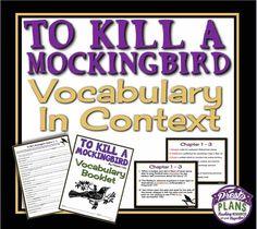 To kill a mockingbird plot diagram arbeitsbltter to kill a mockingbird vocabulary in context booklet presentation common core from presto ccuart Images